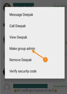 make group admin