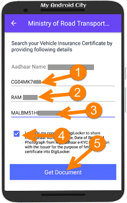 how to find insurance policy number by vehicle number