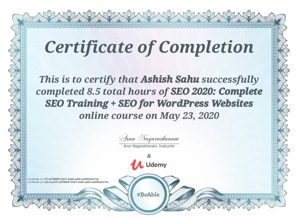 Ashish-Sahu-SEO-Training-Certificate-for-WordPress-Websites